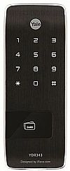 Yale YDR343 - Vertical Rim Lock with Mobile Access) RF Smart Chip, Touch Keypad & Remote Control